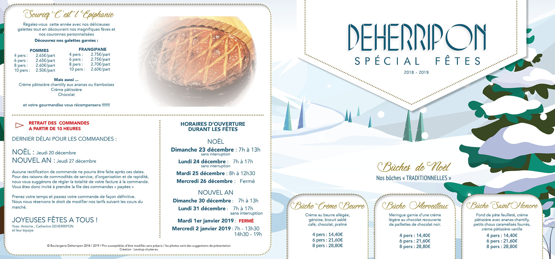 Carte Boulangerie.Boulangerie Deherripon
